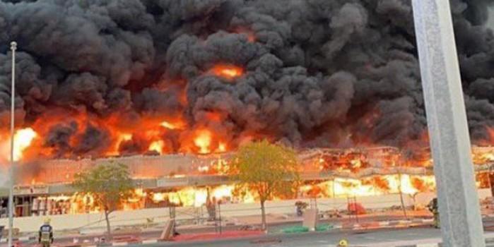 Arap ülkesinde korkunç yangın! Siyah dumanlar gökyüzünü kapladı