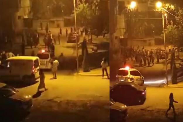 Arnavutköy'de komşuların tekmeli yumruklu kavgası kameraya yansıdı