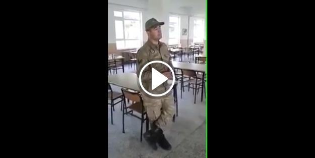 Askerlerden 'Medine'ye Varamadım' ilahisi düeti