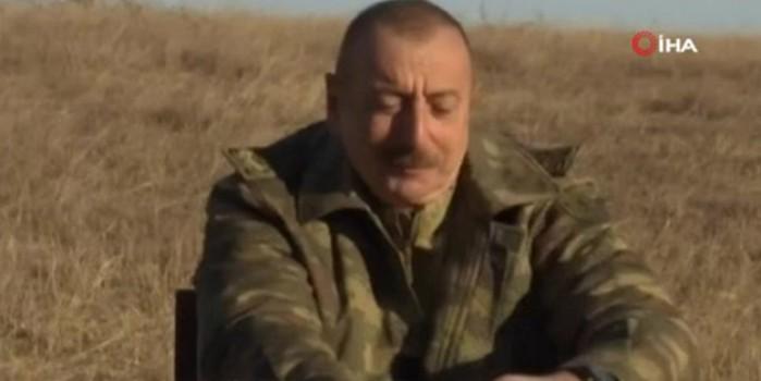 Azerbaycan Cumhurbaşkanı Aliyev'in Cıdır Ovası'nda zafer çayı