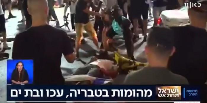 Barbar Yahudiler araçtan indirdikleri Filistinliyi vahşice linç etti!