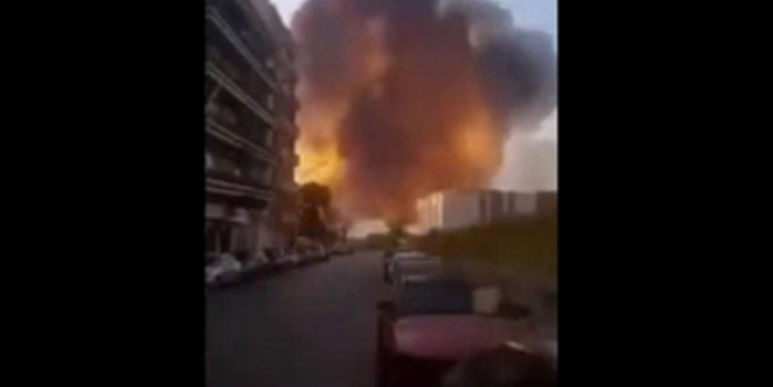 Beyrut'taki patlama amatör kameramanı böyle yuttu