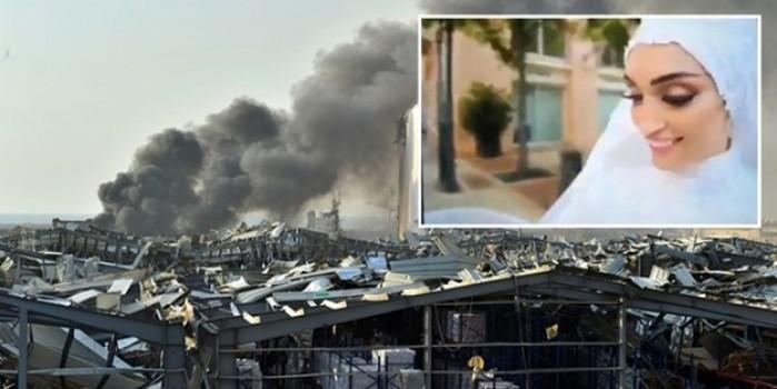 Beyrut'taki patlamada yeni evlenen çift dehşeti böyle yaşadı