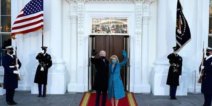 Biden Beyaz Saray'a girdi