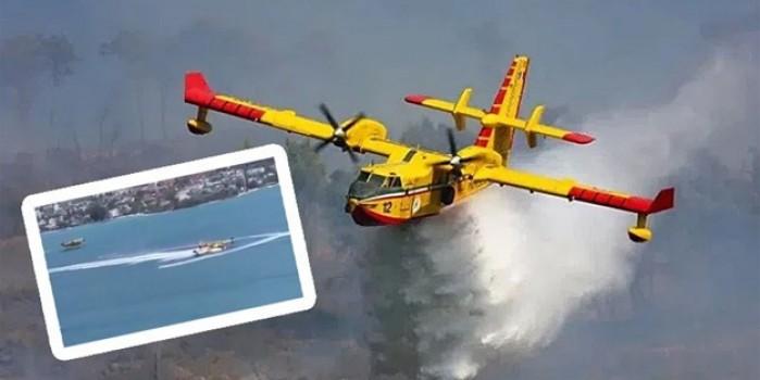 Bodrum'da yangın söndürme uçağına Jet Ski engeli!
