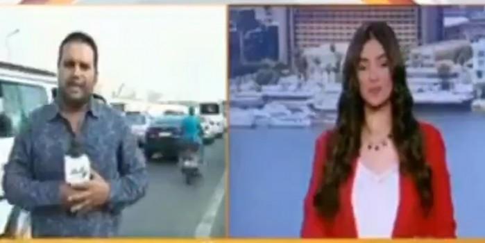 Canlı yayında görülmemiş kaza! Muhabir neye uğradığını şaşırdı