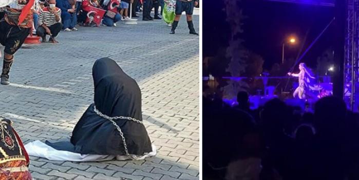 CHP'den kurtuluş mücadelesine leke düşüren görüntü! Çarşaf rezaletinden sonra 'dansöz' skandalı patlak verdi - Yeni Akit