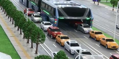 Çinliler tasarladı! Trafik sorununu ortadan kaldıracak 'müthiş otobüs'