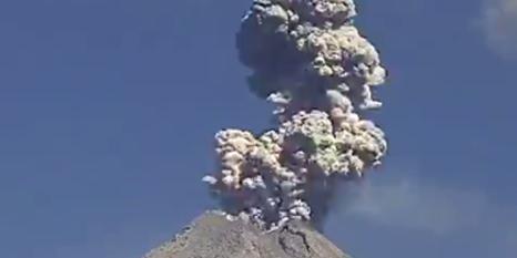 Colima Yanardağı yine faaliyete geçti