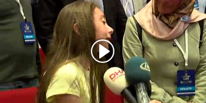 Cumhurbaşkanı Erdoğan'ı görebilmek için dakikalarca  gözyaşı döktü