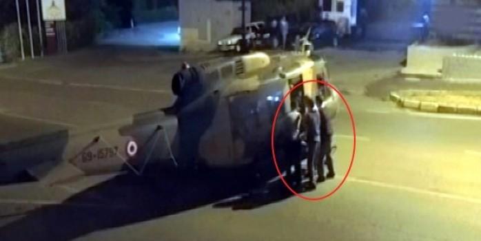 Darbeci Kerime'nin kullandığı helikopter hainleri kaçırmış