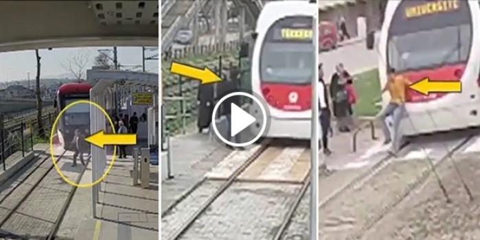 Dikkatsiz Samsun halkının tramvay ile imtihanı