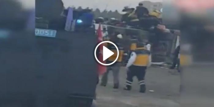 Diyarbakır'da polis araçlarına bombalı saldırı!