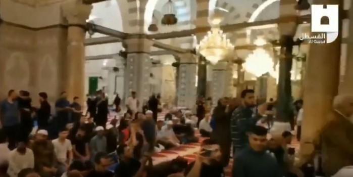 El Aksa Camii'nde bayram tekbirleri getiriliyor!