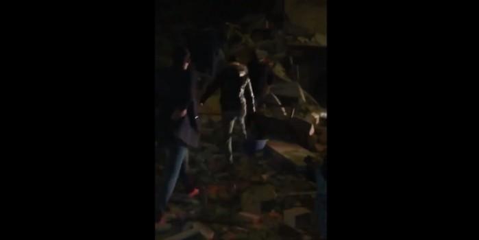 Elazığ'da ilk görüntüler! Yıkılan binalar var