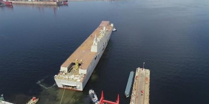 En büyük savaş gemimiz TCG Anadolu gelecek sene sulara inecek