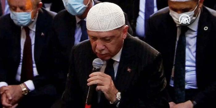 Erdoğan cuma namazında yangın için dua etti