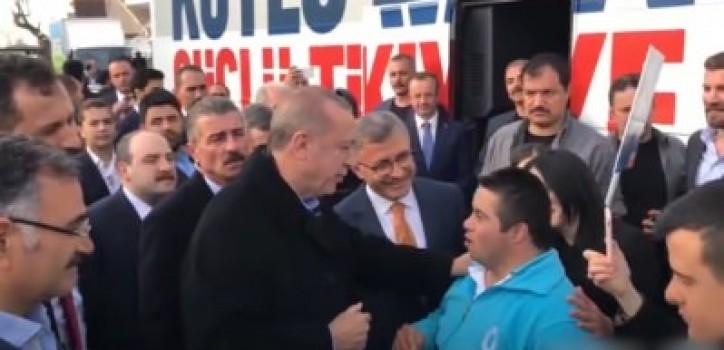 Erdoğan ile down sendromlu gencin samimi sohbeti