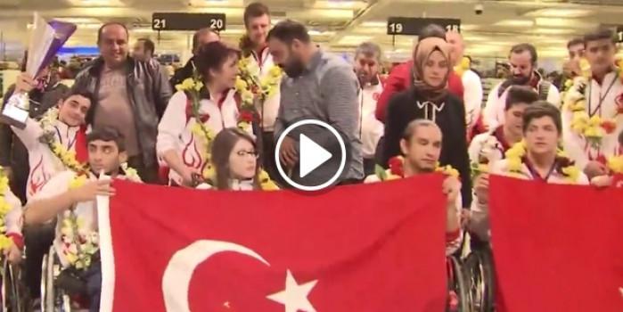 Erdoğan şampiyon sporcuları aradı