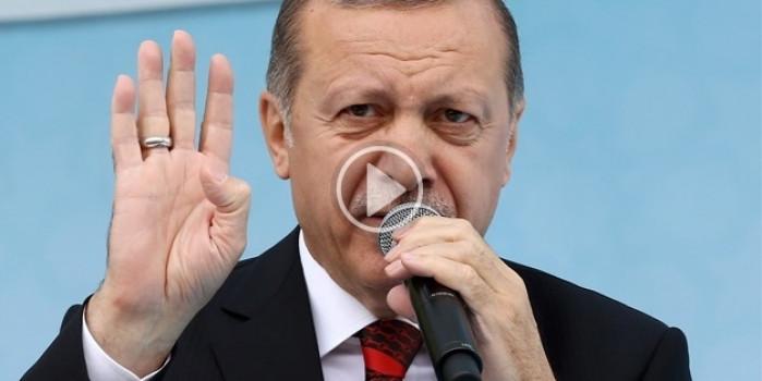 Erdoğan'a Brüksel'de sevgi gösterisi