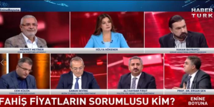 Ersan şen uçtu, Mehmet Metiner güldü!