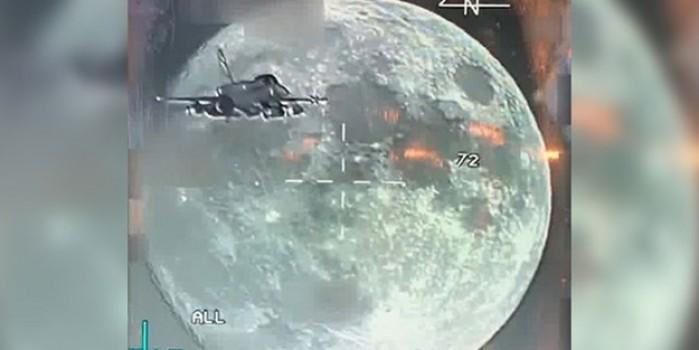 F-16 uçağımızdaki Sniper Pod'a eşsiz bir dolunay görüntüsü yansıdı