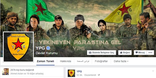 Facebook YPG'yi devlet olarak tanıdı