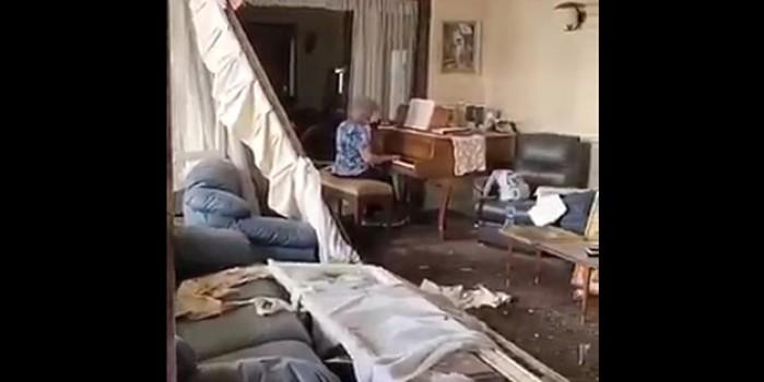 Facianın yaşandığı Lübnan'da patlama sonrası ilginç görüntü