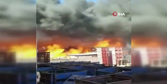 Filistin'de meyve-sebze halinde yangın dehşeti