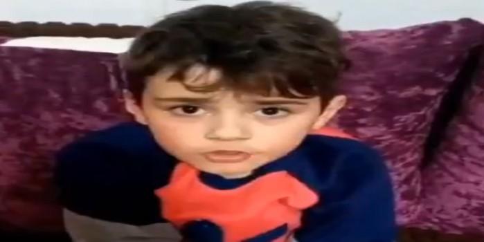 Filistinli çocukdan Türkiye'ye duygulandıran koronavirüs mesajı