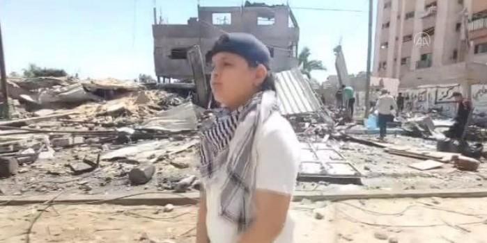 Filistinli küçük rapçi Gazze'de yaşanan acıyı rap müzikle duyuruyor