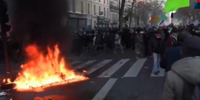 Fransa'da 'endişelendiren' görüntüler! Ülke karıştı