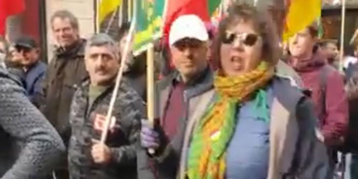 Fransız kadın PKK yandaşlarına haddini bildirdi! Terör seviciler dondu kaldı