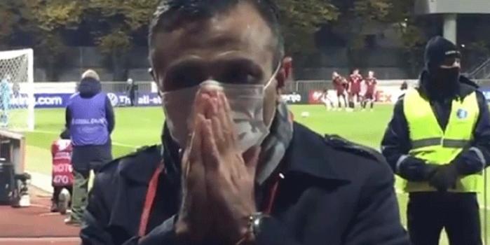 Görevli TRT Spor ekibi bile bakamadı! Sahada büyük drama