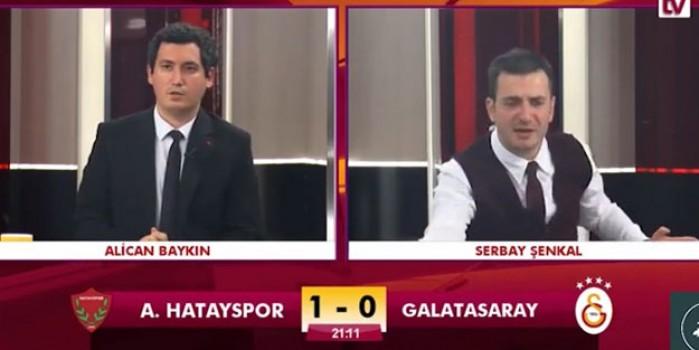 GS TV spikeri maçı anlatırken kahroldu