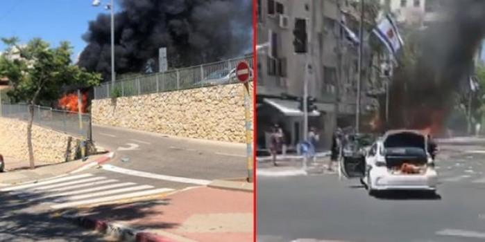 Hamas'tan İsrail'in 10 Filistinliyi katlettiği saldırıya misilleme: Tel Aviv'de panik ve siren sesleri