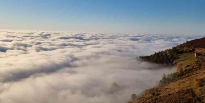 Hayran bırakan bulut denizi manzaraları