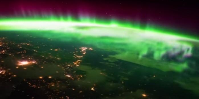 Hayran bırakan görüntü... Kuzey Kutup ışıkları uzaydan görüntülendi