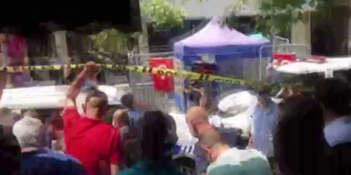 HDP il binası önünde hareketli dakikalar