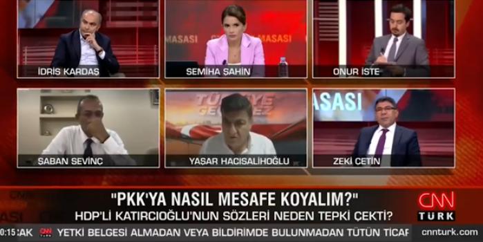 HDP'li Erol Katırcıoğlu'nun skandal sözleri konuşuldu! CNN Türk canlı yayınında sert tartışma