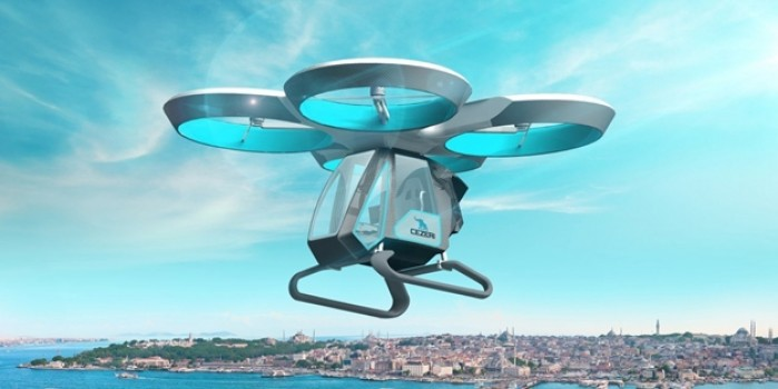 İlk testi başarıyla geçen Türkiye'nin ilk uçan arabası Cezeri'ye dünya basınından büyük ilgi