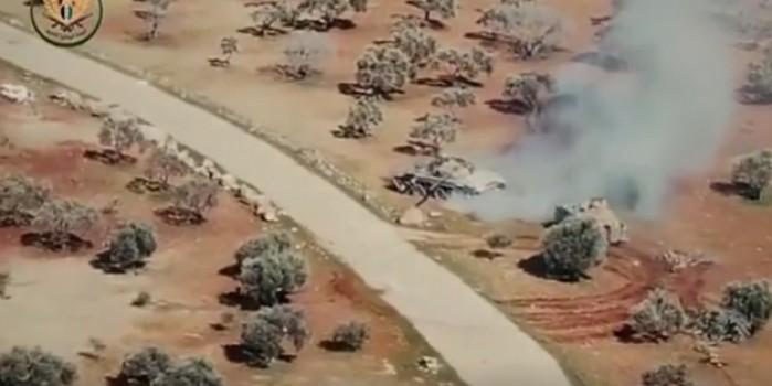 İnanılmaz görüntüler! Katil Esed'in koca tankını ZPT ile kovaladılar