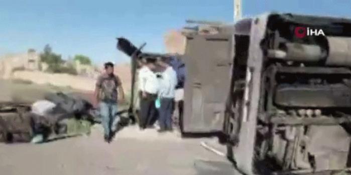 İran'da askeri araç kaza yaptı! Ölüler var