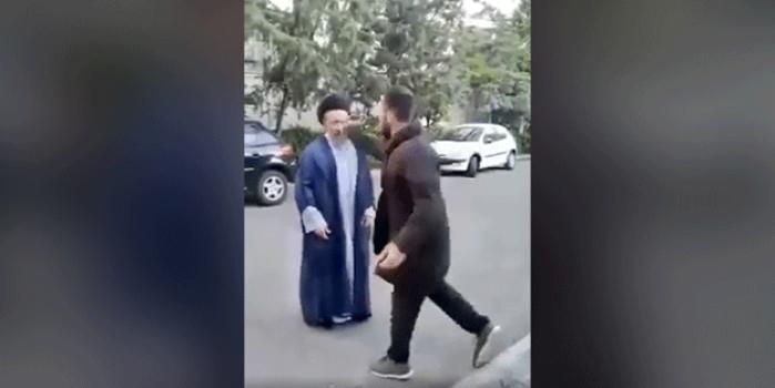 İran'da mollaya saldırı! Görüntüler gündeme oturdu