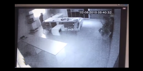İş yeri soygunu güvenlik kamerasında