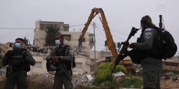 İşgalci İsrail Filistinli engelli bir kişinin evini 6. kez yıktı