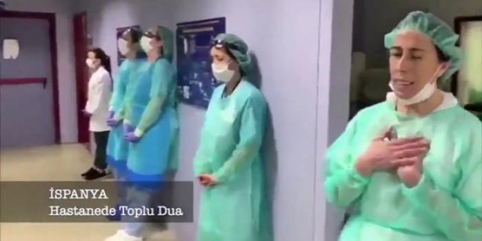 İspanya'da doktorlar toplu dua etmeye başladı