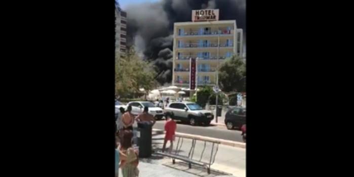 İspanya'da korkutan yangın! Çıkan dumanlar korkuttu