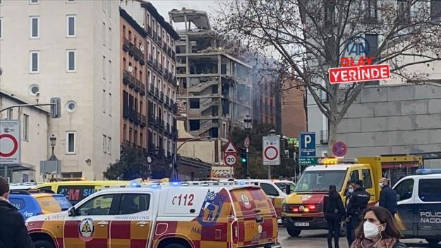 İspanya'nın başkenti Madrid'de bir binada şiddetli patlama meydana geldi