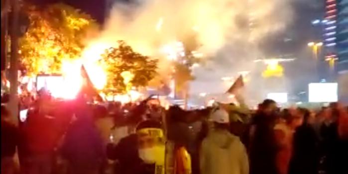 İsrail Başkonsolosluğu önünde İsrail'e lanet yağıyor!